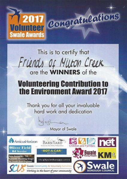 2017 Volunteer Swale Awards