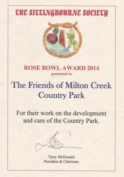 Sitingbourne Society Rose Bowl Award